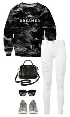 """""""Untitled #3448"""" by meandelstyle ❤ liked on Polyvore featuring Mr. Gugu & Miss Go, Frame Denim, adidas Originals, Merona and Yves Saint Laurent"""