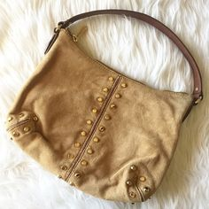 | Michael Kors | Uptown Astor Michael Kors uptown Astor in walnut suede with gold rivet detail. Great pre-loved condition with plenty of years left! No scratches or damage to the inside or outside. Michael Kors Bags