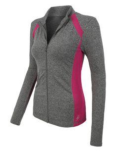 Womens Active Full Zip Long Sleeve Mock Neck Workout Sports Running Jacket