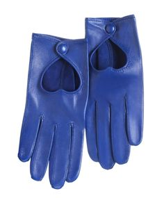 Heart Driving Gloves by Minna Parikka Yves Klein, Leather Driving Gloves, Leather Gloves, Blue Gloves, Close To My Heart, Heart Jewelry, Mitten Gloves, Mittens, Electric Blue