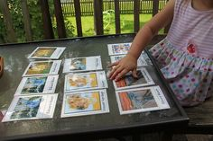 Homemade puzzles of pictures children have seen before to improve visual perceptual skills.