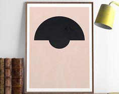 Abstract art, Abstract print, Geometric print, Minimalist art, Wall print, Wall art, Home decor, Wall decor, Office decor, Modern art, A3