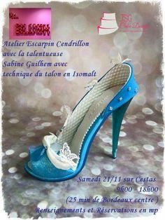 Cinderella's shoe fondant isomalt