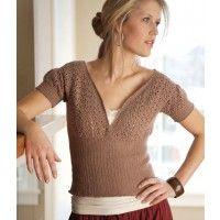 I love the crochet ribbing on this crochet top. Courtney Corset Top ePattern | InterweaveStore.com