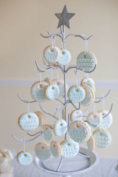 Sugar Cookie Christmas Tree | Annie's Eats  | Christmas cutout, frosted, decorated cookies, recipes, desserts