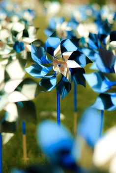 Have you noticed blue and silver Pinwheel Gardens in your community?  These are sponsored by Pinwheels for Prevention, a non-profit dedicated to the cause of preventing child abuse.  Visit their website to learn how you can do your part.  Lovely Picture, Great Cause.