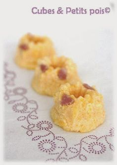 Recette pour bébé dès 15 mois ou lorsqu'il aime les morceaux mini-gâteau à la polenta au chèvre et jambon blanc à manger avec les doigts, idéal pour un pique-nique. Baby Cooking, Baby Food Recipes, New Baby Products, Oatmeal, Menu, Breakfast, Desserts, Bb, Education