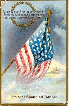 Vintage Star Spangled Banner postcard