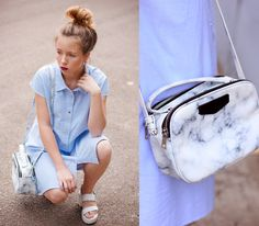 Dress, Parfois Bag