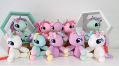 """81 Likes, 17 Comments - Crochet Unicorns and Toys (@ems_patty) on Instagram: """"One big order of baby unicorns heading off tomorrow! Lots of happy little girls, I hope! …"""""""