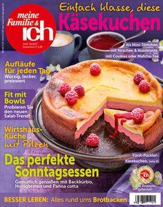 meine Familie & ich: 10/2017: Einfach klasse, diese Käsekuchen / Das perfekte Sonntagsessen / Fit mit Bowls / burdafood.net/Eising Studio – Food Photo & Video, Martina Görlach / http://www.burda-foodshop.de/Einzelhefte/Einzel-meine-Familie-ich/