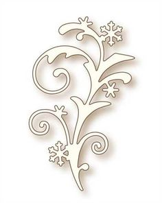 Snow Flourish Die - Wild Rose Studio