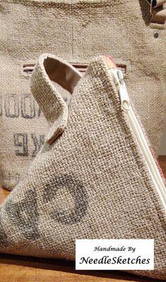 Handmade Fabric Bags, Slow Fashion, Bag Making, Jute, Burlap, Pouch, Reusable Tote Bags, How To Make, Hessian Fabric