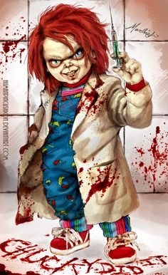 Horror Movie Art : Cult Of Chucky by Marleigh Gordon Art. Arte Horror, Horror Art, Horror Movie Characters, Horror Movies, Chucky Tattoo, Chucky Movies, Childs Play Chucky, Bride Of Chucky, Image Nature