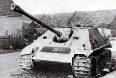 The Jagdpanther was a German tank destroyer; it had a fixed gun (i.e. no turret) and was based on the chassis of the Panther tank. To accommodate the gun the sides of the Panther tank were extended up to provide a roomy interior, while maintaining a very low profile. It was armed with the same long-barrelled 88 mm gun as the Tiger II, and a 7.92 mm machine gun in the hull (front glacis plate). Despite the limitations of vehicles without turrets (limited gun movement left/right) the Jagdp...