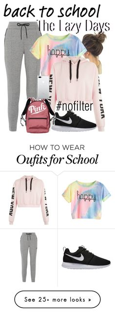 """""""Those Lazy School Days"""" by watermelonhead on Polyvore featuring NIKE, Victoria's Secret and nofilter"""