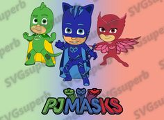 PJ MASKS SVG Logo svg High Quality design files dxf eps pdf png (300 dpi included) cutting files for Cricut and Silhouette Cameo Machines de SVGsuperb en Etsy https://www.etsy.com/es/listing/491015497/pj-masks-svg-logo-svg-high-quality