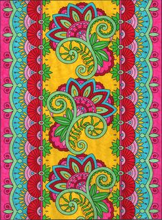 Robin Taylor 18 Division From Creative Haven Mehndi Designs Coloring Book