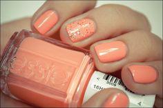Peach nails