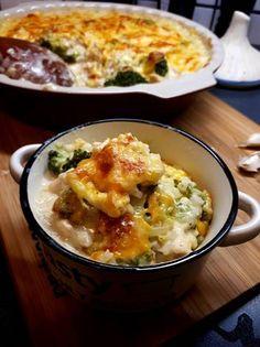 Tejszínes-brokkolis rizses csirke