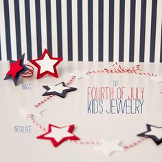 DIY fourth of july kids jewelry | Made by L