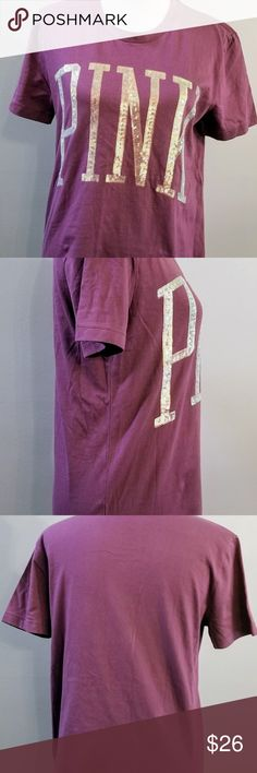 Pink Victoria's Secret Bling T Shirt Plum Pink Victoria's Secret Bling T Shirt Color: Plum or light Purple Size X Small New with tags PINK Victoria's Secret Tops Tees - Short Sleeve
