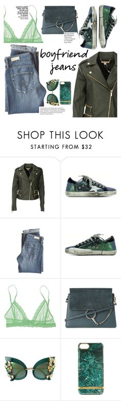 """""""Borrowed from the Boys: Boyfriend Jeans"""" by italist ❤ liked on Polyvore featuring MICHAEL Michael Kors, AG Adriano Goldschmied, Eberjey, Chloé, Dolce&Gabbana, Richmond & Finch and Whiteley"""