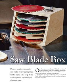 Saw Blade Storage Box - Table Saw