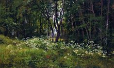 Flowers on the forest edge, 1893 - Ivan Shishkin