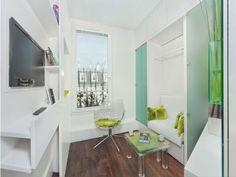 Caser un couchage, un coin bureau, une kitchenette, une douche et des rangements, le tout dans seulement 6m2, impossible ? Pas pour l'architecte David Bitton ! L'architecte a bel et bien réussi à ... #maisonAPart