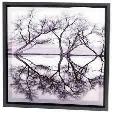 Tämän tyyliset,lehdettömät puu taulut ,musta/harmaat :)