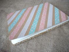 DIY washi tape journal - stripes