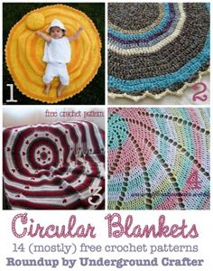 Click the image to get your Crochet Baby Blanket Circular Pattern! Baby Blanket Crochet, Crochet Baby, Free Crochet, Knit Crochet, Crochet Blankets, Diy Blankets, Afghan Crochet Patterns, Crochet Stitches, Knitting Patterns