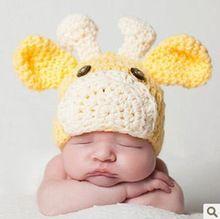 newborn baby Giraffe handmade infant princes Girls boys Costume Beanie photography photo Props Crochet knitted caps hats(China (Mainland))