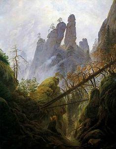 Caspar david Friedrich Ravin dans la montagne 1822-23