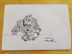 월요 드로잉 모임, 내 앞 자리 분. #그림그리는남자 #비정규직일러스트레이터 #그림스타그램🎨 #일러스타그램 #감성폭발 #일상 #펜 #드로잉 #일러스트 #TemporaryIllustrator #daylife #pen #drawing #painting #illustration