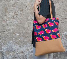 Tutoriale DIY: Cómo coser un tote bag con asas de cuero vía DaWanda.com