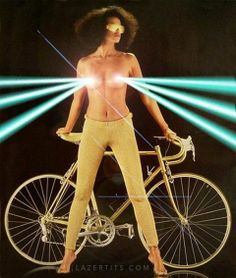 I'm not sure what this 1980 bike poster is selling [NSFW, sorta] Playboy, Velo Vintage, Vintage Bikes, New Retro Wave, Roller Disco, Bike Poster, Bike Photography, Bicycle Girl, Bronze