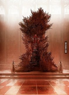 George R.R. Martin's image of the Iron Throne. - Pretty sure I've pinned this before, but pinning again. So much better than the TV version.