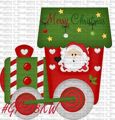 SL- CHRISTMAS ~ TRAIN ~ Scrapbook Embellishment GNB1543M