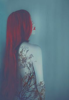 Reverie © Leslie Ann O'Dell    awesome tattoo concept!! love how the arm matches the back