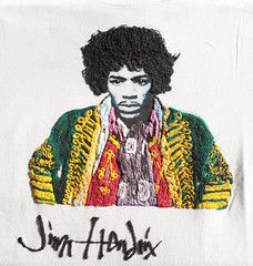 Jimi Hendrix T-shirt  Painted3d by Quor Afroamerican rock