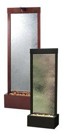 Gardenfall Clear Glass, Dark Copper, Free Standing Water Wall