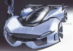concept car rendering  illustration rece car le mans futuristic concept design vehicle sketch