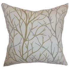 Accent your space with this throw pillow, which comes with a tree print pattern. Gorgeous and simple, this square pillow will bring a modern touch to your home.
