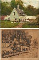 La maison de lartiste au Rouge Cloître 2 works by Alfred Théodore Joseph Bastien