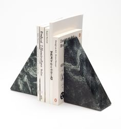 Bookends (Each set of bookends is machined from a single block of granite.) - $180