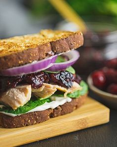 Cranberry Turkey Thanksgiving Leftover Sandwich