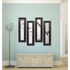 American Made Rayne Dark Walnut Mirror Panel (Set of 3- 15.75 x 29.75)