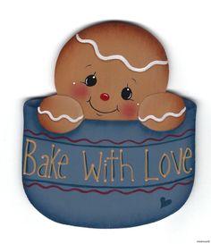HP GINGERBREAD Bake With Love FRIDGE MAGNET